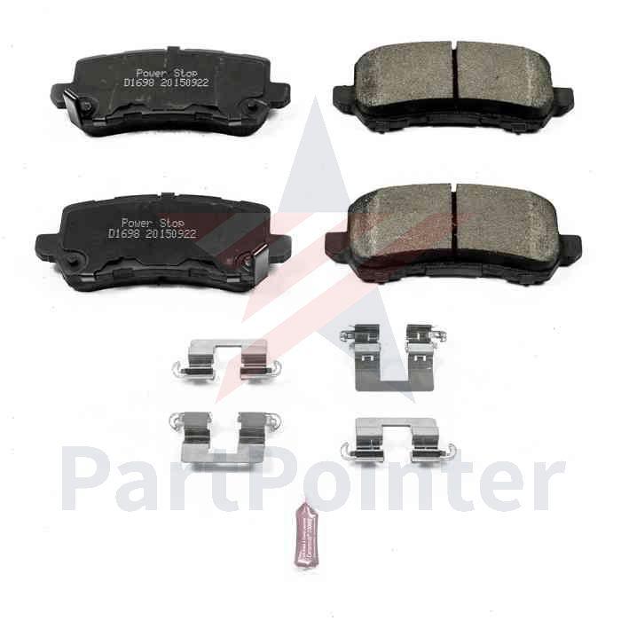 PowerStop Rear Disc Brake Pad & Hardware Kit For 2015-2018