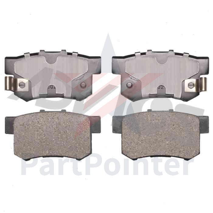 ADVICS Rear Disc Brake Pad Set For 2007-2012 Acura RDX
