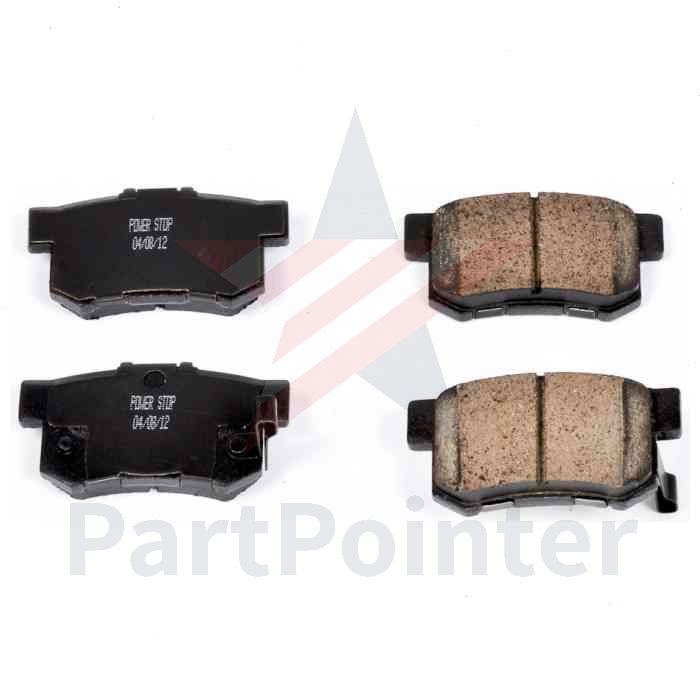 PowerStop Rear Disc Brake Pad Set For 2007-2012 Acura RDX